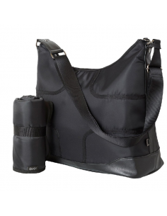 OiOi Bolso cambiador Hobo Black Taped