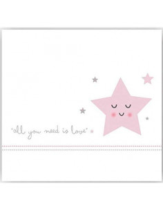Juego de sábanas Love Star para cuna 60x120 de Coimasa