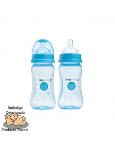 Bébé Confort Pack de 2 Biberónes Maternity boca ancha silicona 270 ml