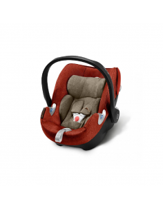 Cybex Aton Q Plus i-Size Sillas de coche Autumn Gold - Burnt Red