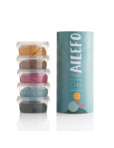 Ailefo 5 tubos Plastilinas Orgánicas Colores 5 x160gr