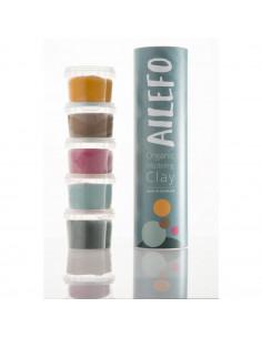 Ailefo 5 tubos Plastilinas Orgánicas Colores 5 x100gr
