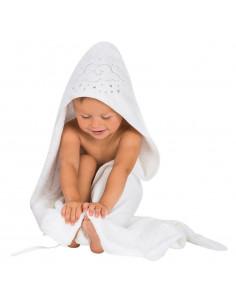 Capa de baño delantal Clevamama blanca