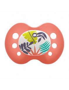 Bébé Confort 2 chupetes reversibles de silicona Jungle Vibes - Rojo