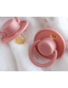 Chupete Retro tetina de Latex en rosa de Kiokids