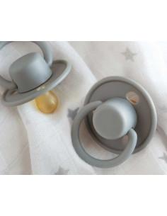 Chupete Retro tetina de Latex en gris de Kiokids
