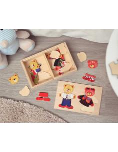 Puzzle los ositos de Kiokids, juego de madera