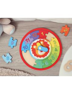 Puzzle El Reloj de Kiokids, juego de madera