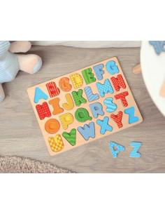 Puzzle El Alfabeto de Kiokids, juego de madera