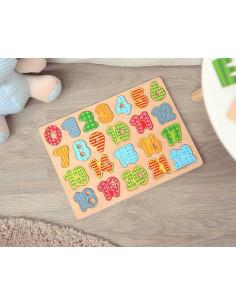 """Puzzle """"Aprendo a contar"""" de Kiokids, juego de madera"""