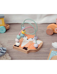 Ábaco para bebés de Kiokids, juego de madera