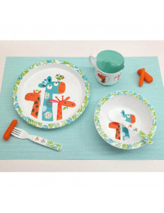 Set Vajilla para niños 5 piezas Jirafa