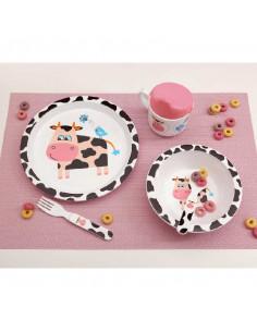 Set Vajilla para niños 5 piezas Vaca