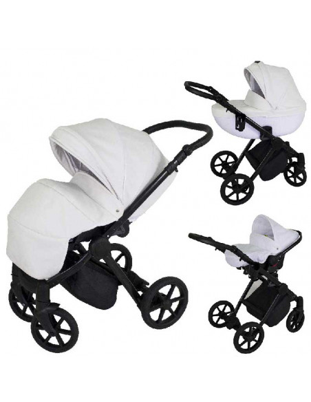 Cochecito 3 en 1 Aris, carrito, porta-bebés y capazo