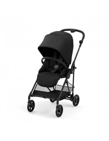 Cybex Gold silla de paseo MELIO 2 Carbon, chasis negro